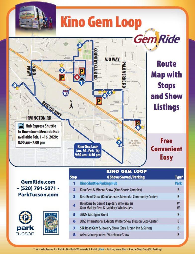 Kino Gem Loop Shuttle Map