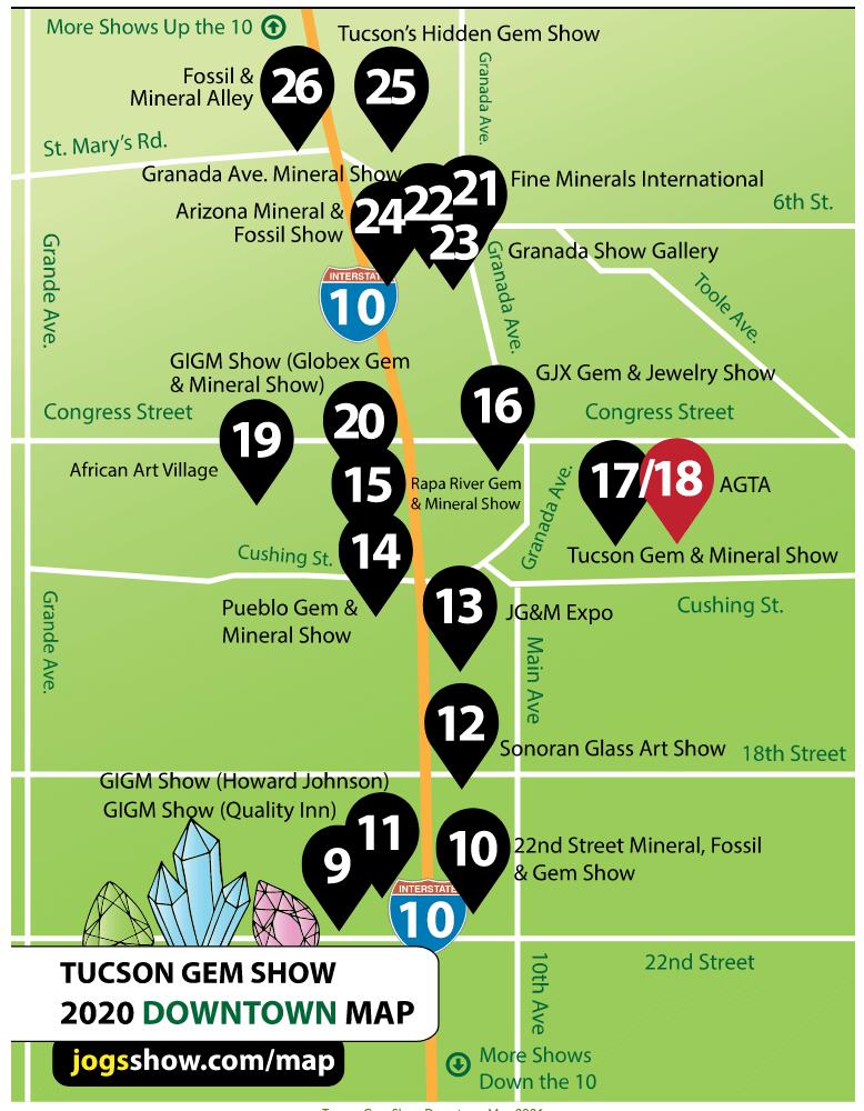 Map Downtown | Tucson Gem Show 101
